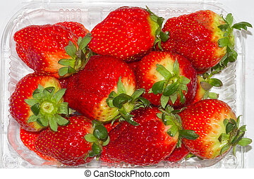 Group of red strawberry