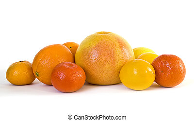 Group of ripe citrus