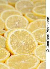 Group of ripe lemons