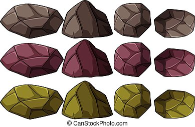 Group of rocks - A group of rocks on a white background