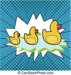 Group of rubber ducks