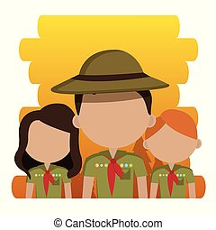 group of scouts characters