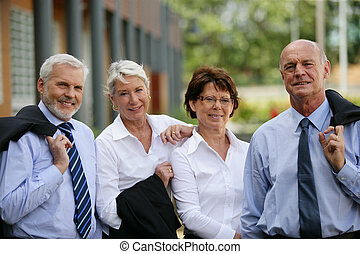 Group of senior business people