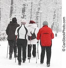 Group of senior women in the park