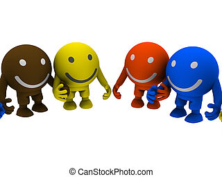 Group of smileys