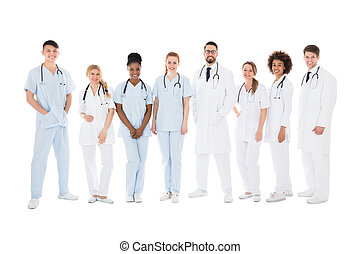Group Of Smiling Doctors With Stethoscopes