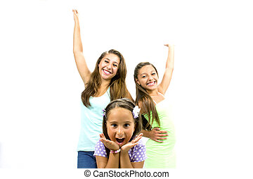 Group of smiling girls