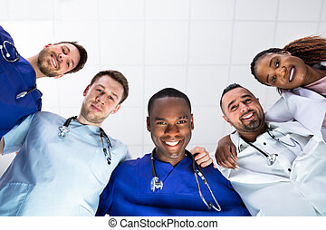 Group Of Smiling Medical Team
