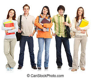 Group of standing students.