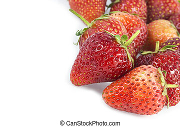 Group of Stawberries isolated on white background