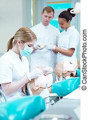 Group of stomatology students