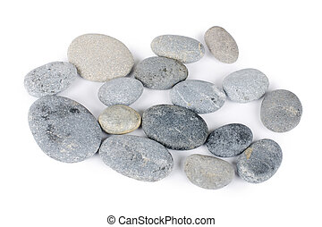 Group of stones isolated on white