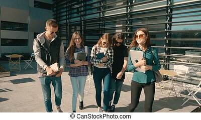 Group of Students Walk