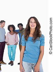 Group of stylish people