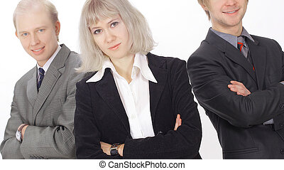 group of successful business people. isolated on white.