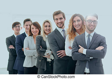 group of successful business people