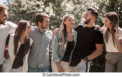 group of successful young people