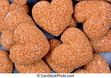 Group of sugar heart shape