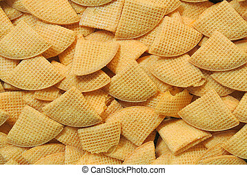 wafer biscuits - group of sweet wafer biscuits