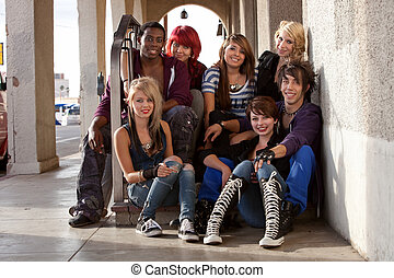 Group of Teen Punks