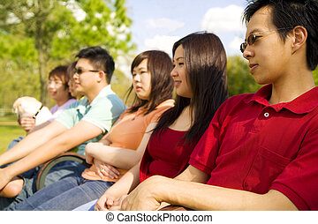Group Of Teens Enjoying Outdoor