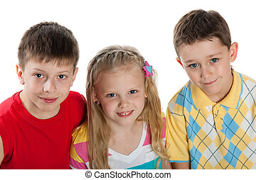 Group of three children