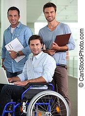 Group of three men