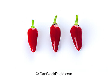 three red chili peppers