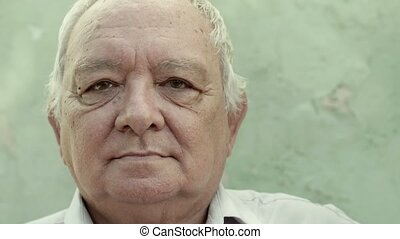 Group of three sad elderly men - Retired people, portrait of...
