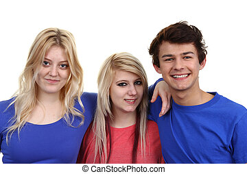 Group of three teenagers
