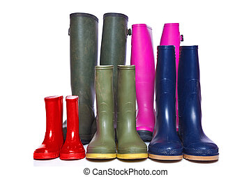 Group of wellie boots