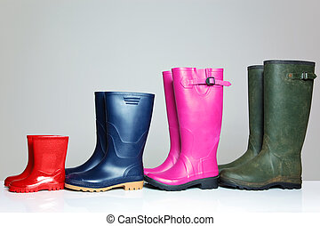 Group of wellie boots - A group of wellie boots