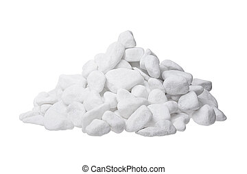 Group of white stoned isolated on background.