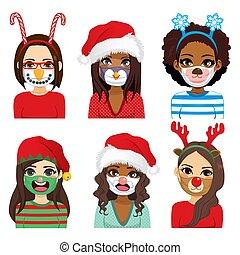 Christmas Comic Medical Face Mask