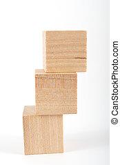 wooden blocks - group of wooden blocks on white background