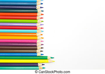 Group of wooden pencils