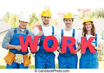 group of workmen