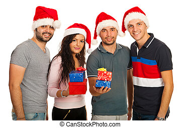 Group of Xmas friends