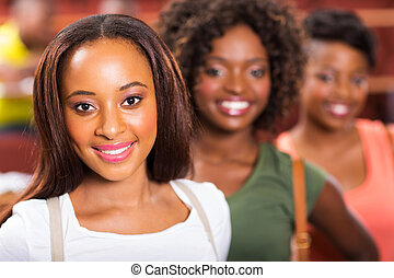 group of young african college girls