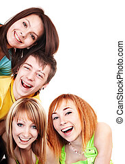 Group of young happy people.