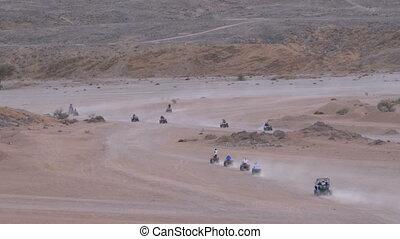 Group on Quad Bike Rides through the Desert in Egypt on...