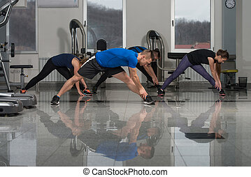 Group People During Aerobics Class