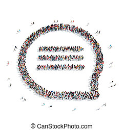 group  people  shape bubble chat