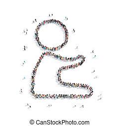 group people shape child