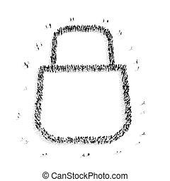 group people shape lock