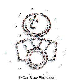 group people shape man reward