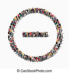 group people shape minus