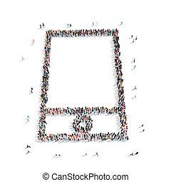 group  people  shape  mobile phone