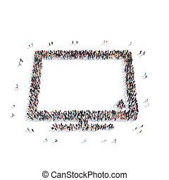 group people shape monitor