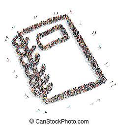 group people shape  notes cartoon